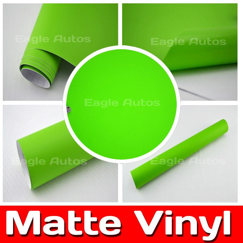 Apple Green Matte Vinyl Film / Car Body Sticker Car Wrapping Vinyl / Size: 5m/10m/15m/20m(China (Mainland))
