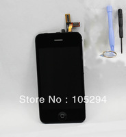Free Shipping New Touch screen Digitizer&LCD Display Assembly  for iPhone 3GS replacement With 3pcs Tools Black Color