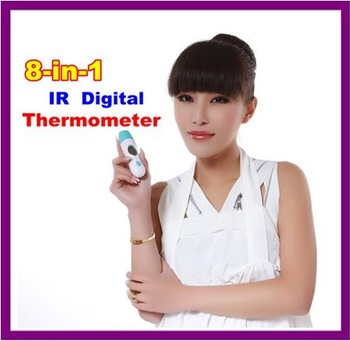 Free Shipping 10pcs/lot 8 in 1 Baby Thermometer Infrared Multi-function Forehead Thermometer for Adult  termometro de testa