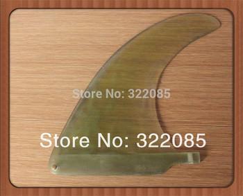 """clear 8"""" fiberglass  center  surfboard /surf/surfing fin"""