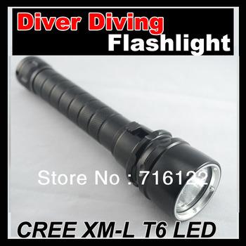 CREE XM-L T6 LED 1200 Lum Waterproof Diver Diving LED Flashlight S1 100m Torch lamp light