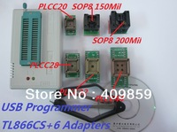 Free Shipping!Russian Manual New V6.0  MiniPro TL866CS True USB Willem TL866 Programmer+ 6pcs adapters  13143 chips WIN7 64bit