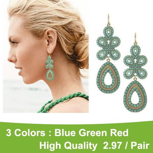 Fashion Celebrity earrings chandelier Nation Bohemia beads earrings beads earrings Jewelry! cRYSTAL sHOP(China (Mainland))