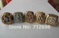 A Set NFL Dallas Cowboys VI XII XXVII XXVIII XXX Super Bowl Championship ring size 11 US Best Gift for Fans Gift Collection 5pcs