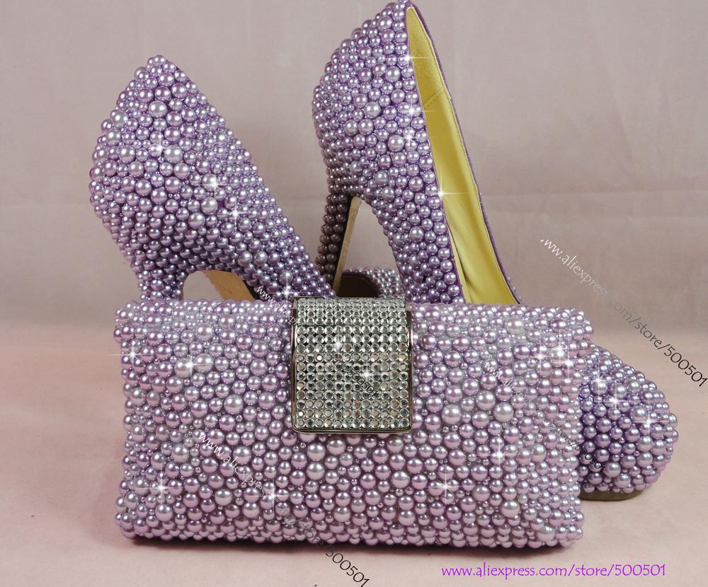 Purple High Heel Shoes Wedding