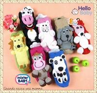 Christmas Socks 0-4year handmade cartoon animal knitted baby indoor Floor socks crochet thick towel socks non slip baby socks