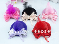 Free Shipping!New Discount Baby Bows With Clip/Girls Fashion Hair Clips/Mini Top Hats,Popular Kids Hair Accessories/Headpiece