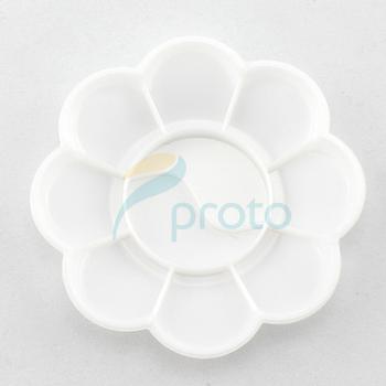 10pcs White Color Acrylic Mixing Paint Draw Palette flower Nail Art Dish Nail Tools SKU:F0086X