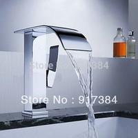 Graceful Waterfall bathroom basin sink mixer tap chrome brass Faucet LW-103