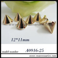 free shipment,10mm plastic sew on spikes,silver/gold/gunmetal,with holes,bottom diameter is about 10mm,about 2000pcs/lot