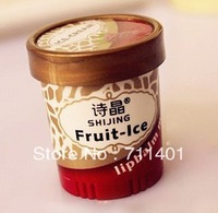 Free shipping high quality lip balm Lip Smacker fruite ice cream for children man woman 6 flavours 2pcs/lot