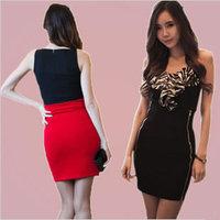 Wild new Korean fashion seasons Slim was thin zipper bag hip high waist skirt ladies short packet bust skirt