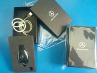 key shape  car key usb flash drive 100% free gift  box 1gb 2gb 4gb 8gb 16g 32gb 64gb  Mercedes Benz