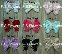 Free ePacket/CPAP 100pcs 9x7CM chiffon butterfly flower for baby headovers hair accessories 9 stock colors for selection