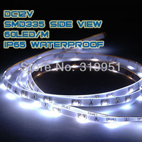 Side View LED Strip Light SMD335 Single Color 60leds 24W/Reel LED Strip Light Waterproof IP65 WW CW Yellow R G B Free Shipping