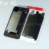 [Free shipping 50Pcs/Lot] White&Black Glass Back Cover For Replacement Housing for iPhone 4s 4gs High Quality Back Glass