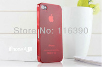 wholesale 50pcs/lot 0.5mm Ultra Thin Slim Frosted Matte PC Cover Case for iPhone 4 4S,Free Shipping