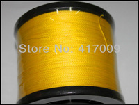 Wholesales 4strands 100% PE braided line  1000M Strong PE  Fishing Line Dyneema Spectra yellow LB10-100LB Free Shipping