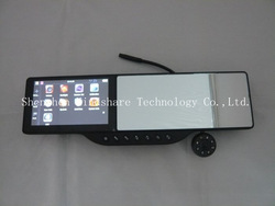 5 inch Bluetooth AV-in Touch Screen GPS Navigator Plus HD Digital 720P Camera DVR Plus Rearview Mirror Freeshipping EMS(China (Mainland))