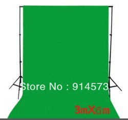 photographic equipment 3m x 6m 100% Cotton Chromakey Green Screen Muslin Background Backdrop(China (Mainland))