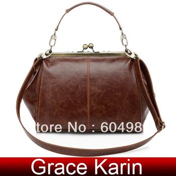 Freeshipping GK Retro Vintage Ladies Kiss lock Shoulder Purse Handbag Hobos Totes Bag Women BG49
