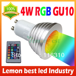 4W GU10 RGB LED Light Bulb 16 Color RGB Change 110V/220V with Remote for home party decoration atmosphere(China (Mainland))