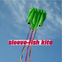 Free Shipping!! Hot Sale 5.5 m Single Line Stunt Green Octopus POWER Sport Kite