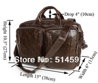 2013 New Design 100% Cow Leather Vintage Men's Briefcase & Backpack Laptop Bag Business Handbag Shoulder Travelling Bags