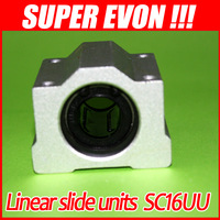 8pcs linear bearing motion ball slide units 16mm SC16UU box bearings low friction bearing MB0006#8