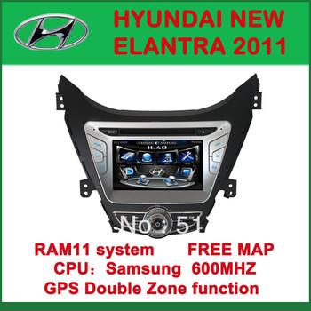 Car DVD Player with GPS for HYUNDAI NEW ELANTRA 2011 - FM, Bluetooth, Free Map DVD+AM/FM+SD/USB+IPOD+Analog TV+BT+3D UI