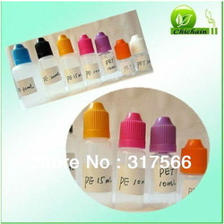 Shenzhen Wholesale empty plastic bottle for e cig with different color(China (Mainland))