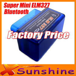 New Super MINI ELM327 obd2 Bluetooth Professional Diagnostic Tool elm 327 bluetooth obd ii(China (Mainland))