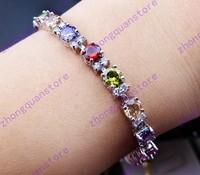 Jewellery fashion zircon women's 14KT white Gold Filled Bracelets gift Zircon bracelets multicolor bracelets