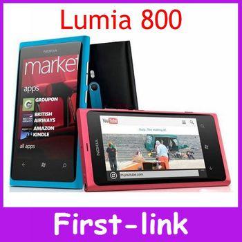 Unlocked Original Nokia Lumia 800 Windows 7.5  cell Phones 16GB ROM 3G GPS WIFI 3.7 inch 8MP Camera in stock  Free shipping