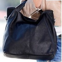 2013 new wpkds genuine leather women handbag totes Big Bag Women Cowhide Handbag  Shoulder Free Shipping