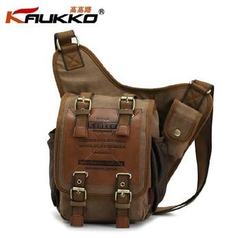 KAUKKO FH03 Vintage 100% cotton canvas man casual bag fashion bag male messenger bag for ipad retail and wholesale