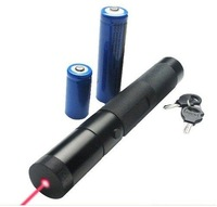2000mW high power 650nm focusable red laser pointers flashlight with safety key  burn black match with gift box,charger,battery