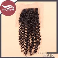 Silk Base Closure Brazilian/Malaysian hair closure Deep Wave Curly Closure 4x4 silk top closure free shipping