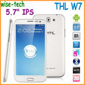 "2013 Free shipping Original THL W7  5.7"" IPS cellphone MTK6589  1GB RAM 4GB QUAD Core Android 4.0 3G WCDMA phone/John"