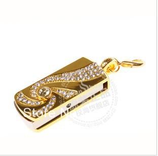 Full Capacity 4GB/8GB/16GB/32GB Golden cyclone crystal USB Flash Memory Drive Stick/Pen/Thumb