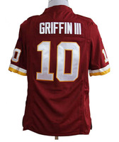 cheap Football Jerseys 10# Griffin III game football men's Jerseys and free shipping size:S-XXXL