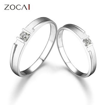 простой любви zocai 0,14 ct сертифицированный ч/алмазов си его и ее обручальное кольцо кольца мноёеств круглый cut 18k белое золото