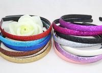 28pcs/lot 14colors Free shipping non-slip Glitter Headband Sports Dance Basketball Yoga Run Sparkle Hair Accessory