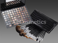 19 Pcs Ligneous Brushes Set + 88 Colors Neutral Eye Shadow Palette