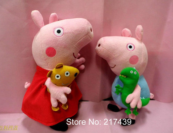 Free shipping Peppa Pig George Pig Large Size Plush toys kids birthday gifts Christmas gifts Peppa 32CM, George 28CM