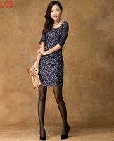 women's 2014 spring and summer autumn dress  Women vintage lace one-piece dress slim basic women's  casual dress