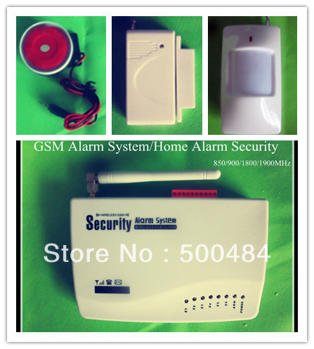 FREE SHIPPING -- Wireless/Wired GSM SMS Home Alarm/ Voice burglar Alarm System Remote Control Setting Arm/Disarm+Auto Dialing(China (Mainland))