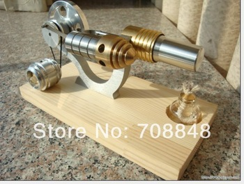 NEW HOT AIR STIRLING ENGINE ELECTRICITY/POWER GENERATOR FUNNY TOY WITH LED Lamp*M16-03-S