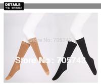 Free shipping via CPAM Unisex medical elastic compress stockings knee high stocking close toe 30-40mmHg pressure