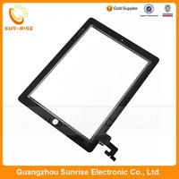 20pcs/lot For iPad 2 Touch Screen Panel Glass Digitizer Replacement With 3M Adhesive Black/White Color DHL Free shipping